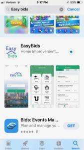 mobile app easy bids dev